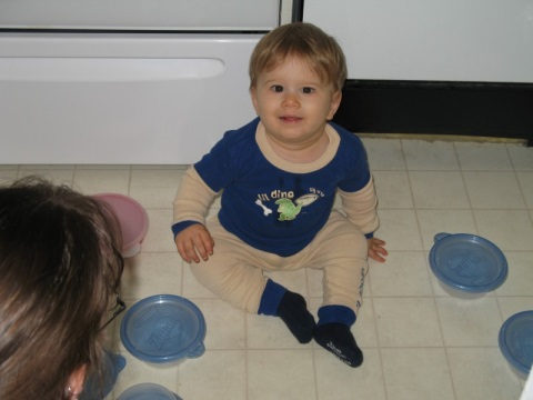 Playing with Tupperware!