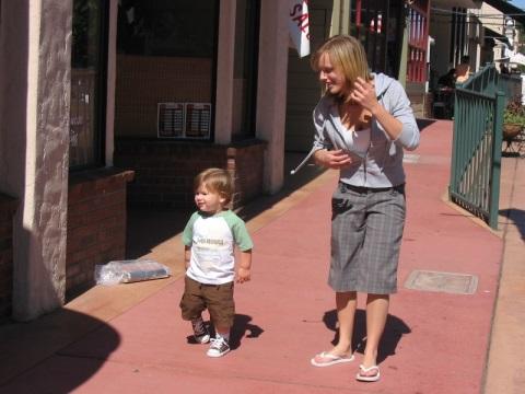 With Auntie Catie