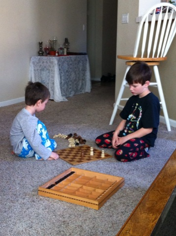 Early morning chess