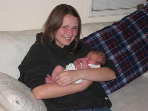 With Auntie Krista